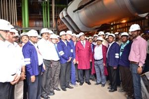 Chairman SAIL at Blast Furnace #5 of Rourkela Steel Plant (1)