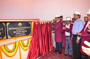 Inauguration of new slab caster