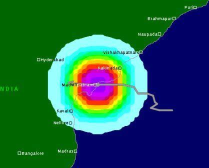 Severe Cyclonic Storm Helen about to strike Machilipatnam