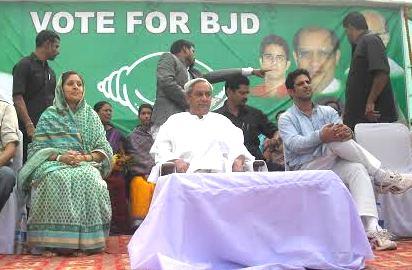 CM Naveen Patnaik, BJD MP Kalikesh Singhdeo during the campaign