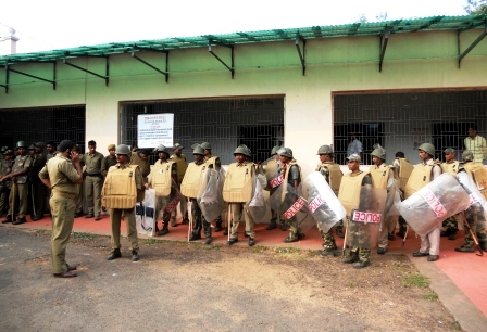 Seven platoons of police have been deployed at Jagannath Colliery