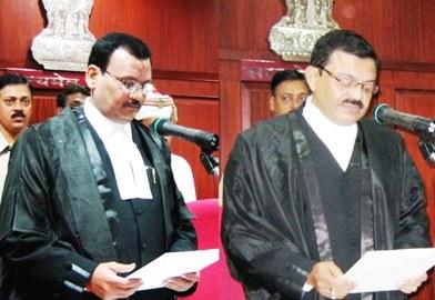 Justice Shatrughna Pujahari (left) and Justice Debabrata Dash