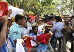 Anti US Demo in Hyderabad