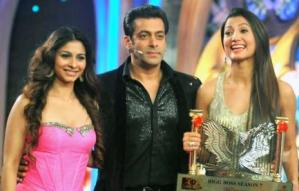 Gauhar ( Right) with Salman & Tanisha
