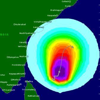 "Tracking Cyclonic Storm 'Madi"""