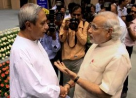 File pic : Naveen with Modi