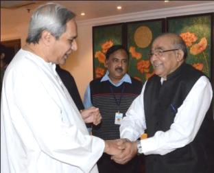 CM Naveen Patnaik with Dr YV reddy, Chairman 14th Finance Commission