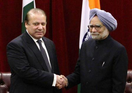 Dr Manmohan Singh with Nawaz Sharif