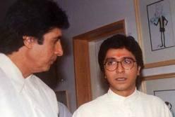 Amitabh with Raj Thackeray ( File Pic)