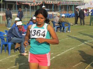 gold medal girls-20 suman jena in 10 km walk