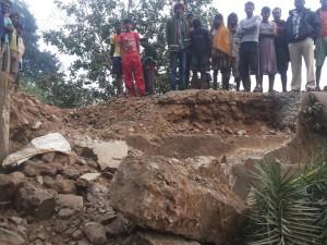 Kanyashram bridge in Padia blown up by Maoists