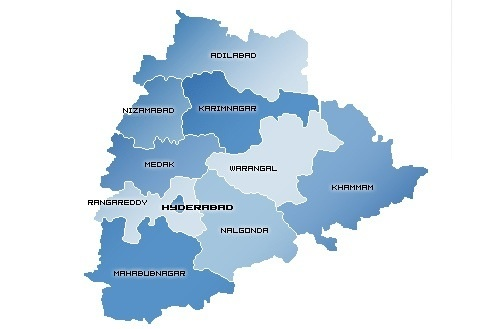 Proposed Telangana. state
