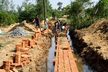 Posco Boundary wall construction halted (Pic :   Binay Ray)