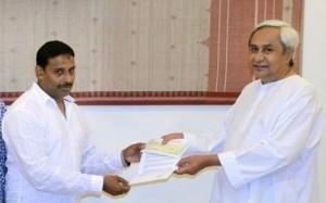 Abhimanyu with CM Naveen Patnaik