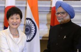 MAnmohan Singh & S. Korean President Park