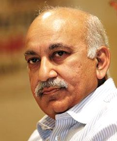 File pic of MJ Akbar