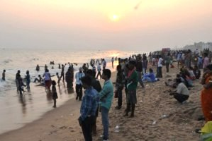 Celebrating New Year on Puri beach