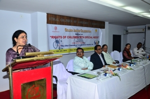UCCI CSR Seminar on Chief Guest Punam Natrajan at 'Rights of Children with Seecial Needs' 18012014