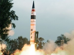 File pic of Agni-IV test-fire