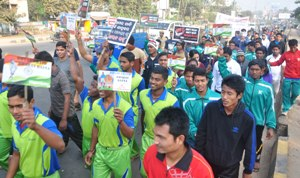 rally for dhyan chand