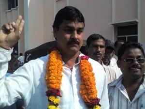 Winning BJD candidate from Ward No 38 Nikhil Balabantaray
