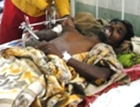 Hube Majhi, victim of firing by CRPF