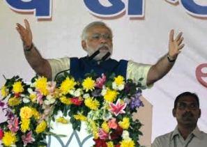 Narendra Modi at the rally
