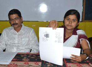 Sanjita Dhali at the press meet on Monday, Feb 3