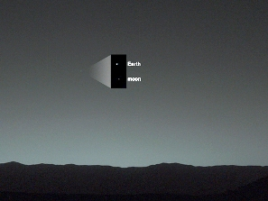 The Earth and the Moon-as seen from Mars (Courtesy-NASA)