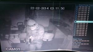 CCTV camera footage of the burglary