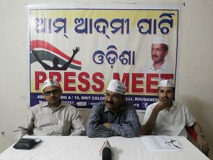 AAP Odisha press meet pic