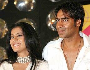 Ajay with Kajol