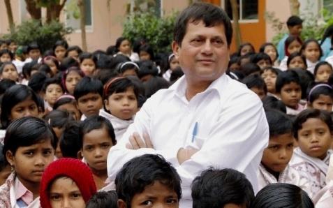 Dr.Achyuta Samanta  With students at KISS
