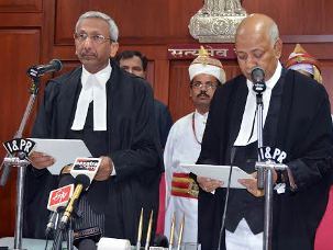 File Pic: Justice BP Ray taking oath as Orissa HC judge