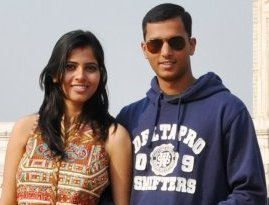 Kaushik with his wife Sangya