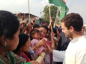 Rahul in Manipur (IANS pic)