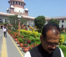 Alok Jena, petitioner in the chit fund case, at the apex court