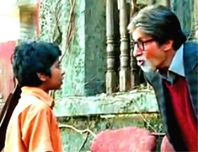 Amitabh with Parth