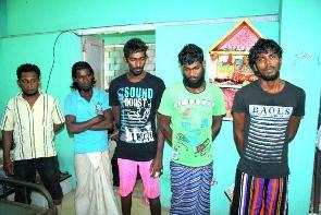 Arrested Lankan fishermen