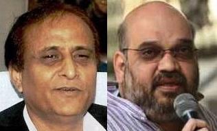 Azam Khan (L) & Amit Shah (R)