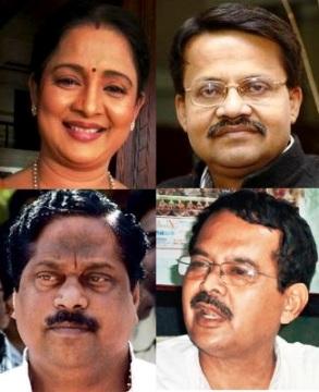 Clockwise: Aparajita, Mahtab, Dey, Swain