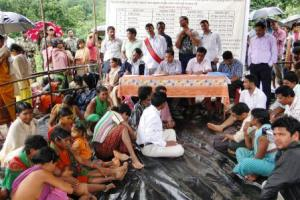 File pic of a Gram Sabha in Rayagda district