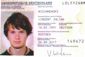 Wischnewski Vincent Julian : tragic death