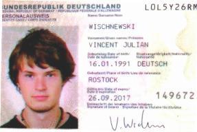 Wischnewski Vincent Julian : tragic death