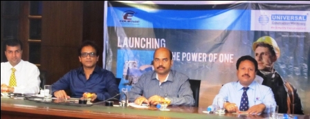 Image 1 - Universal Group Vice Chairman Ranjit More (Second from Left), General Manager Sunil Bhamre,Equipage Infracore Pvt Ltd MD Sanjeev Nayak & GM S K Pattnaik launching the SLM