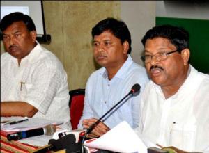 Jayadev Jena at the press meet on Tuesday