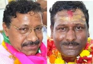 Mamu- Bhanja duel : Dr Kulamani Samal(L) Bibhu Tarai (R)