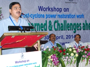 Chief Secretary JK Mohapatra addressing the workshop