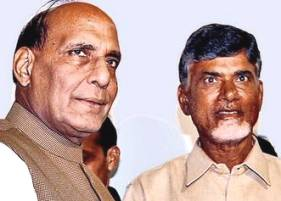 Rajnath with Chandrababu Naidu