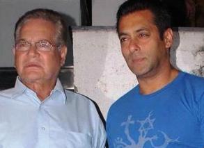 Salman with papa Salim Khan